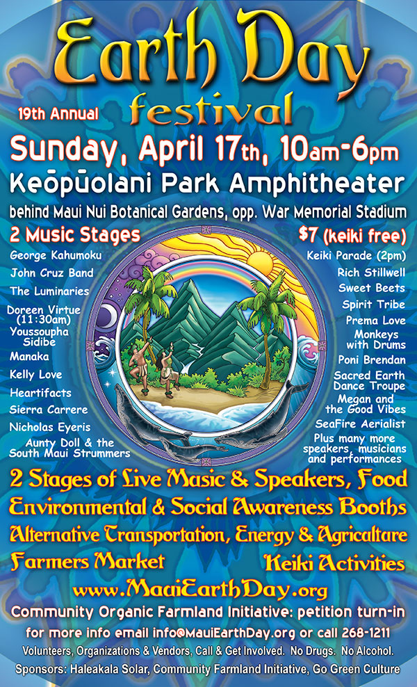 Maui Earth Day Poster